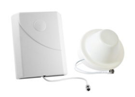 Panel and dome cell phone signal booster antennas