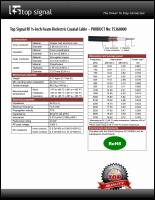 Download the Top Signal TS360000 half-inch coax cable spec sheet (PDF)