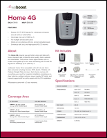 Download the weBoost 470101 Home 4G spec sheet (PDF)
