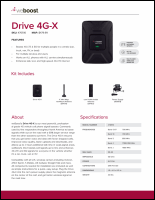 Download the weBoost 470510 Drive 4G-X spec sheet (PDF)