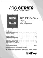 Download the WilsonPro 465134 Pro 70 install guide (PDF)