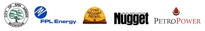 City of Ann Arbor Michigan, FPL Energy, Utah Highway Patrol, John Ascuaga's Nugget, Petro Power